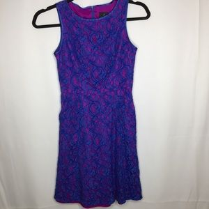 Adrianna Papell sz 8 Fit n flare purple pink dress